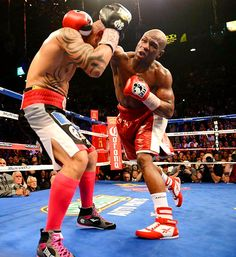 Mayweather defeats Cotto  Floyd Mayweather took away Miguel Cotto's 154-pound title with a unanimous decision Saturday night in Las Vegas.