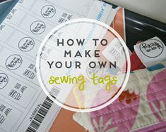 Create your personal sewing tags | veni vidi vicky