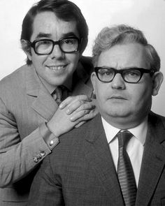 """Ronnie Corbett & Ronnie Barker loved them .just Read Robbie Corbett's Autobiography of the Two Ronnies """"And it's goodnight from him"""" loved it brought back great memories of there shows British Comedy, British Actors, British Tv Comedies, English Comedy, British Humour, The Two Ronnies, Ronnie Corbett, Ronnie Barker, Comedy Actors"""