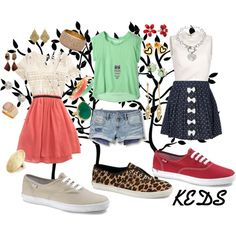 how to wear white keds polyvore