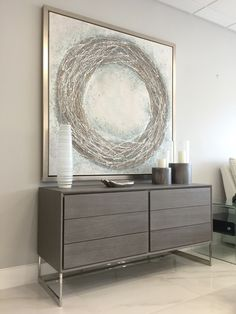 With clean modern lines, quality materials and the trendy neutral gray oak, the Soren Gray Modern Dresser it's a perfect blend for your contemporary home décor! Also available in sleek white lacquer. #TrendyFurniture #Elegant #RefreshYourHome Find the Soren and more modern & contemporary dressers at https://www.sobefurniture.com/modern-bedroom-furniture/modern-bedroom-dresser.html #interiordesign #home #interior #decor #designlover #designideas #sofa #sectional #table #bed #living #bedroom