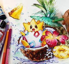 Togepi Pina Colada by Naschi on DeviantArt – Pokémon Games – Pokémon Anime – Pokémon GO Cool Art Drawings, Disney Drawings, Cool Artwork, Amazing Artwork, Pencil Drawings, Pokemon Fan Art, Disney Kunst, Disney Art, Manga Art