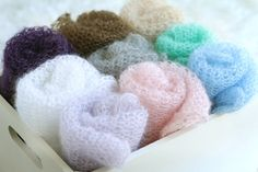 Dreamy Lace Knit Newborn Wrap  - Silk and Mohair - Choose Your Color via Etsy