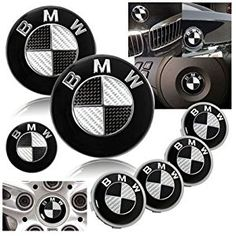 7 BMW Black Carbon Fiber Emblem logo badge SET 82mm + 74mm + 45mm + 68mm Hood/Trunk/Steering/4 X Wheel Caps. Bmw Black, Buy Bmw, Bmw Scrambler, Bmw Parts, Bmw E30, Cool Cafe, Carbon Black, Cool Bikes, Carbon Fiber