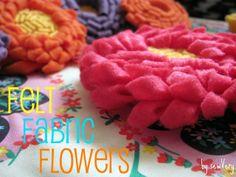 sewVery: Felt Fabric Flower Tutorial