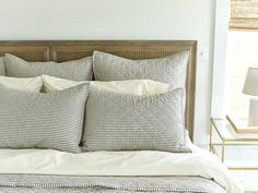 Red Land Cotton's Classic Quilts. 100% American Made Crib Sheets. 100% Cotton Batting. Grown in Alabama. Made In The USA. Striped Bedding, Striped Quilt, Ticking Stripe, Cotton Bedding, Cotton Quilts, Linen Bedding, Bed Linens, Charm Pack Quilts, Bedclothes