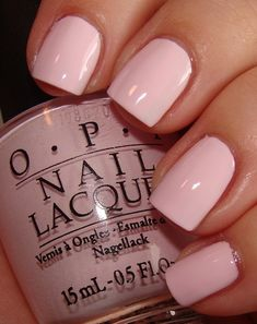 Pale pink nail color! Think this will be my next color!