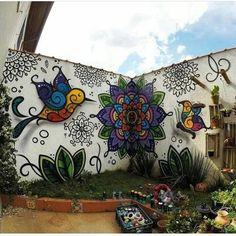 fence Tattoos And Body Art horse tattoo designs Murals Street Art, Graffiti Wall Art, Mural Wall Art, Flower Graffiti, Wall Art Designs, Paint Designs, Horse Tattoo Design, Tattoo Designs, Garden Wall Art