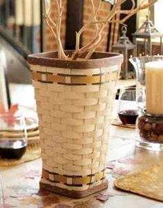 Golden Fields Vase Basket ~ Longaberger