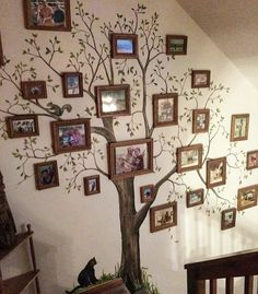 Ideas For Family Tree Mural Family Tree Mural, Family Tree Photo, Family Wall Decor, Photo Tree, Family Photos, Family Trees, Diy Home Decor, Room Decor, Creation Deco