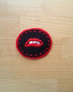 Rocky Horror Picture Show Lips Patch Pin Brooch or Magnet by AUD9