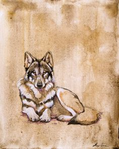 Sweet Wolf Painting by Alexa Carson (WildPaintings on Etsy)
