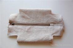 Block zip pouch   Minki's Work Table