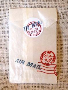 Vintage Air Mail Glassine Goody Bags