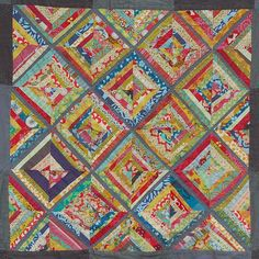 paper pieced string quilt