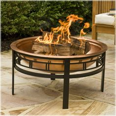 Gosh! One o' these would be luvly...    CobraCo® Copper Mission Fire Bowl #homeoutside