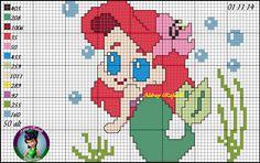 Ariel - The Little Mermaid pattern by Aldray Ferreira