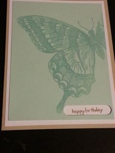 Beautifully Embossed Butterfly Birthday Card on Etsy, $3.99