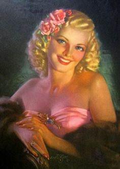1940s Vintage Pin Up Girl  Zoe Mozert