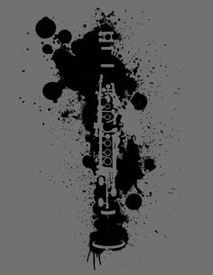 Clarinet paint splatter digital art