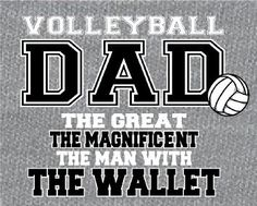 """Volleyball DAD"" - Volleyball T-Shirt - Les needs this shirt!"