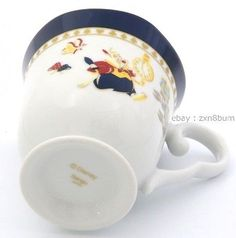 2pcs Set of Mug Disney Alice in Wonderland Pottery Porcelain Elegant Tea Cup