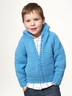 Free Pattern - Go-to yoked hoodie for kids - perfect for layering! #Knit in Bernat Softee Chunky.