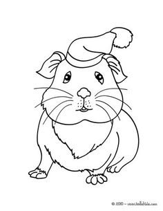 This Lovely Guinea Pig Wearing A Hat Coloring Page Is So Cute Nice Cat Drawing