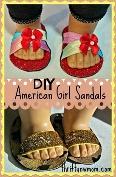 How To Make American Girl Doll Shoes / Sandals (no Sewing Required
