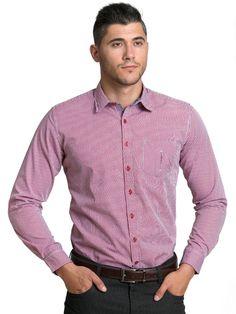Camicia da uomo con maniche lunghe, 100% cotone