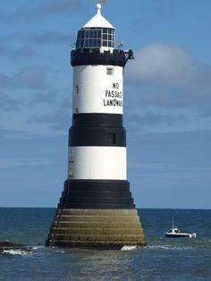 Trwyn Du Lighthouse, Near Penmon, Anglesey, Wales