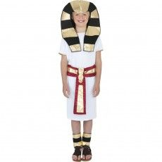 Kinder Kostüm Ägypter Pharao weiß rot L...