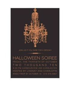 Minted Halloween Chandelier | Spread the word on your spooky bash with these creative picks.