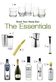 Bar Basics: Stock Your Home Bar