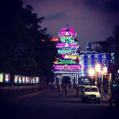 #led #tower in #pooram #trissur #kerala #india