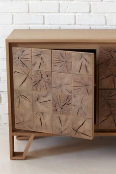 So cool, end grain cabinet doors.