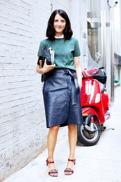 leather wrap skirt - inspiration