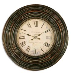 Distressed Wood Wall Clock | Uttermost Trudy