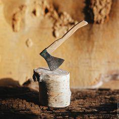 Купить Миниатюрный топор - топор, топорик, миниатюра, подарок, дерево, металл, дерево, металл