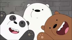 the three musketeers Wallpaper Dekstop, Mac Wallpaper, Macbook Wallpaper, Disney Wallpaper, Cartoon Wallpaper, We Bare Bears Wallpapers, Panda Wallpapers, Cute Wallpapers, Ice Bear We Bare Bears