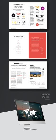 Rapport annuel Rexel on Behance