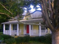 Yellow House Red Door Black Shutters yellow house, red door. i like it! | houspiration - exterior house