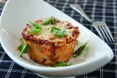 Lasagna Rolls (lasagna cupcakes)