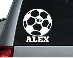 Personalized Soccer Car Decal Sticker / Macbook Decal Sticker / Laptop Decal Sticker