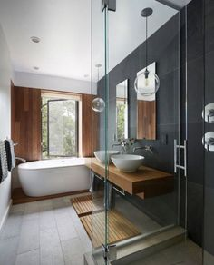 Majestic 6 Awesome Minimalist Bathroom Design Idea You Should Try Who would not want to have a bathroom that is cool, clean, and makes you feel at home for a long shower? The minimalist bathroom can be your choice fo. Bathroom Renos, Bathroom Layout, Bathroom Interior, Bathroom Ideas, Remodel Bathroom, Bathroom Goals, Zen Bathroom, Bathroom Lighting, Bathroom Black