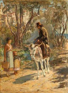 On The Riviera,  Hugh Cameron (1835 – 1918, Scottish) I AM A CHILD-children in art history-blog