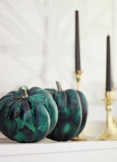 DIY Malachite Pumpkin