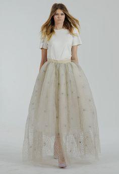 Spider Web Tulle Skirt Wedding Dress | Houghton Bride Fall/Winter 2015 | Blog.theknot.com