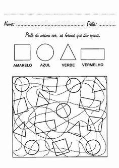 atividades formas geometricas educação infantil imprimir - Pesquisa Google