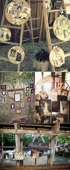 Decoración de bodas con fotos de los novios Wedding ideas with photos